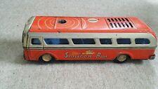 MASUDAYA -SONICON BUS- VINTAGE 1955 JAPANESE TIN PLATE RED CAR TOY MODEL