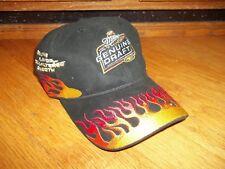 Miller Genuine Draft MGD beer baseball hat cap flames black red embroidered