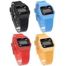 Sport Rectangle Unisex Silicone/Rubber Strap Wristwatches