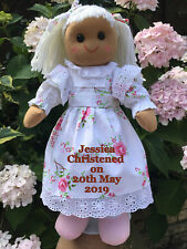 Personalised Rag Doll Christening Baptism holy Communion Dedication  Gift