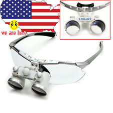 silver 3.5X420mm Dental Surgical Medical Binocular Loupes Optical Glasses lens
