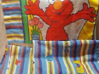 Vintage Sesame Street Twin Set 3pc Fitted Flat Pillowcase