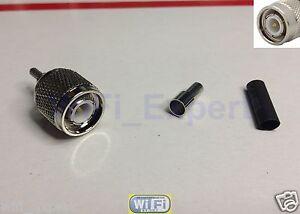 1 x TNC Male Straight Window Solder Crimp RG316 RG174 RG179 LMR100 RF Cable USA