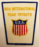 NOS SEW ON JACKET PATCH NRA INTERNATIONAL TEAM TRYOUTS 4.25 X 3.5