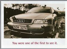 Audi  A4 Poster Large A2 Size Image view from LH rear qtr   Excellent Unused