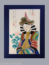 MONGOLIE ! peinture sur toile,  REINE MONGOLE, signée, rare