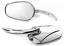 Mirror Set Chrome Diamond for Yamaha Kawasaki Motorcycle Bike