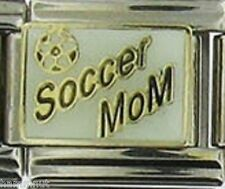 SOCCER MOM WITH SOCCER BALL  WHOLESALE ITALIAN CHARM 9MM K21