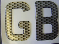 NEW CARBON FIBRE EFFECT GB BADGE DECAL MINI MG FORD