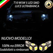 COPPIA LUCI POSIZIONE 5 LED SMART FORTWO T10 W5W CANBUS 100% NO ERROR