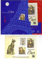 BLOC # 21 SOUS BLISTER ** ART - HISTOIRE - CHAT / COTE 70.00 EUROS (ref 726)