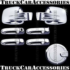 For JEEP Liberty 2002-2006 2007 Chrome Covers Set Full Mirrors+Doors wo+Gas Door