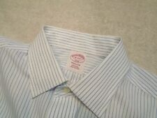 Brooks Brothers Easy Care Cotton Blue Striped Dress Shirt NWT 16 x 34/35 $79.50