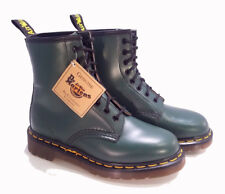 💥 Dr. Martens Doc England Rare Vintage Green Leather 1460 Boots UK4 US6 💥
