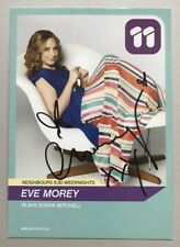 EVE MOREY *Sonya Mitchell* HAND SIGNED Channel 11 NEIGHBOURS Cast Fan Card