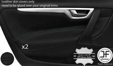 BLACK STITCHING 2X FRONT DOOR CARD TRIM LEATHER COVERS FITS VOLVO V70 S60 01-07