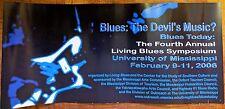 "MISSISSIPPI LIVING BLUES SYMPOSIUM POSTER: ""BLUES: THE DEVIL'S MUSIC?"""