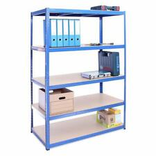 5-Tier Shelving Unit Racking Storage Rust-Resistant Coating Adjustable Height