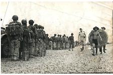 Indochine, départ des troupes pour le combat Vintage silver print Tirage argen