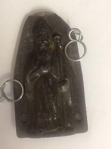 Antique Rare Anton Reiche Dresden Priest Bishop Santa Chocolate Mould / Mold