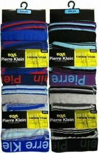 12 PACK Boys Pierre Klein Stripe Designer Boxer Shorts Regular Trunks Age 5-12