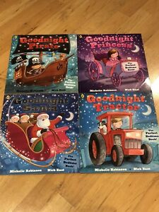 The Goodnight Book Collection (Princess, Pirate, Tractor, Santa)