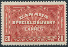 Canada #E4 20c Special Delivery, Unusual Jumbo, Mint Hinged, Offset
