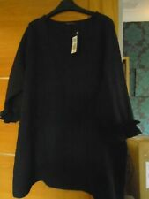 NEW navy  marks & spencer size 20 thick stretch fabric top...rp £25