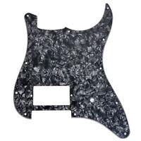 Single Humbucker Guitar Pickguard For Fender Strat Parts Black Pearl 11 Hole