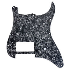 Single Humbucker Pickguard for Fender Strat Guitar Replacement Black Pearl 3ply