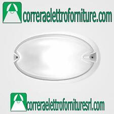 Plafoniera vetro parete esterno soffitto PRISMA CHIP OVALE 25 bianco E27 005700