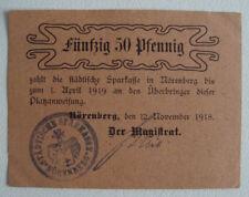 Notgeld Stadt Nörenberg 50 Pfennig 1918 RAR   (503)