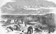 UKRAINE. Opening of the Bombardment of Sevastopol, antique print, 1854