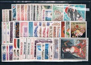 MONACO - Timbres Année 1972 N° 867 à 915  Cote: 72€