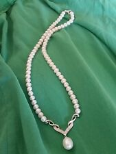 Pearl & Sterling Silver Necklace for a special occasion Bridal formal Wedding