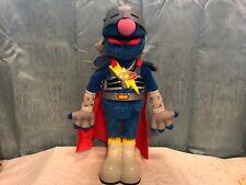 "Super Grover Talking Toy 15"" Sesame Street The Ultimate Superhero Action Figure!"