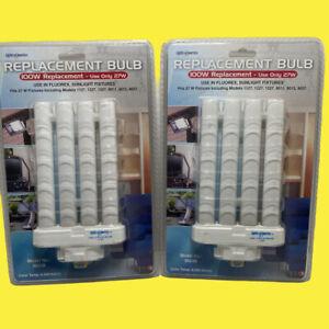 Two 27 Watt-FML-27EX-D /SI928/PL-27W / MMMTL27W, FPL-27WIV UL#E241712 Floor Lamp