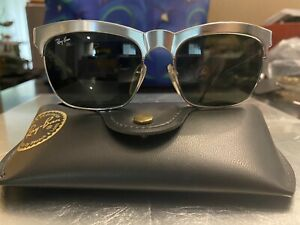 NWOT!! Vintage Ray Ban Nuevo Metals Wayfarer Sunglasses Silver Metallic W0756