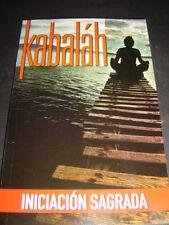 KABALAH INICIACION SAGRADA libro enigmatico sabiduria Book plenitud doctrina