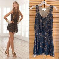 ALEXIS Size Small Sleeveless Black Lace Mini Dress