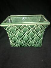 "Vintage Stanford Sebring OH 6"" W X 4.5"" H. Green Art Pottery Vase Planter 246"