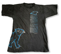 Vtg 1994 Carolina Panthers NFL Men's Wrap Around Double Sided Black T-Shirt Sz M
