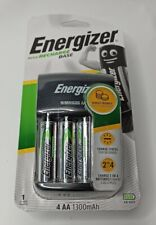 Energizer Base AA /AAA Charger + 4 AA 1300 mAh Rechargeable Batteries