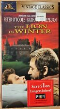 THE LION IN WINTER (vhs) Peter O'Toole, Katherine Hepburn. Brand NEW. Rare. MGM