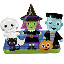 Halloween Cute Friends Foil Large Helium Kids Party Balloon Witch Cat Ghost
