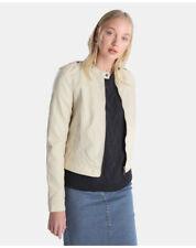 Cappotti e giacche da donna beige in pelle taglia S