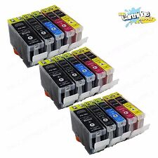 15 Pack Ink For Canon PGI-5 Cli-8 W/ Chip Pixma iP4200 iP4300 iP4500 MP600 MP800