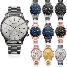 2019 Fashion Mens Crystal Stainless Steel Analog Quartz Wrist Watch Watches AU