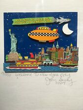 John Suchy Welcome To New York City NYC 3-D Art Collage Signed & Numbered