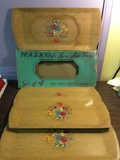 VTG HASKO LE LUXE LAP TRAYS SET OF 4 With Original Packaging